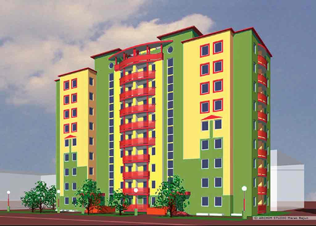 Budynek mieszkalny średnowysoki- dom studencki