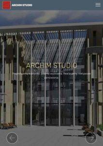 Strona responsywna ARCHIM STUDIO dla tabletów