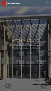 Strona responsywna ARCHIM STUDIO dla smartfonów