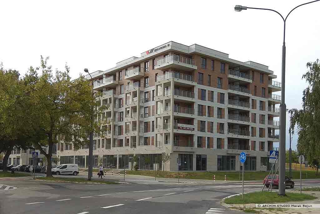 4 budynki wielorodzinne z usługami- widok