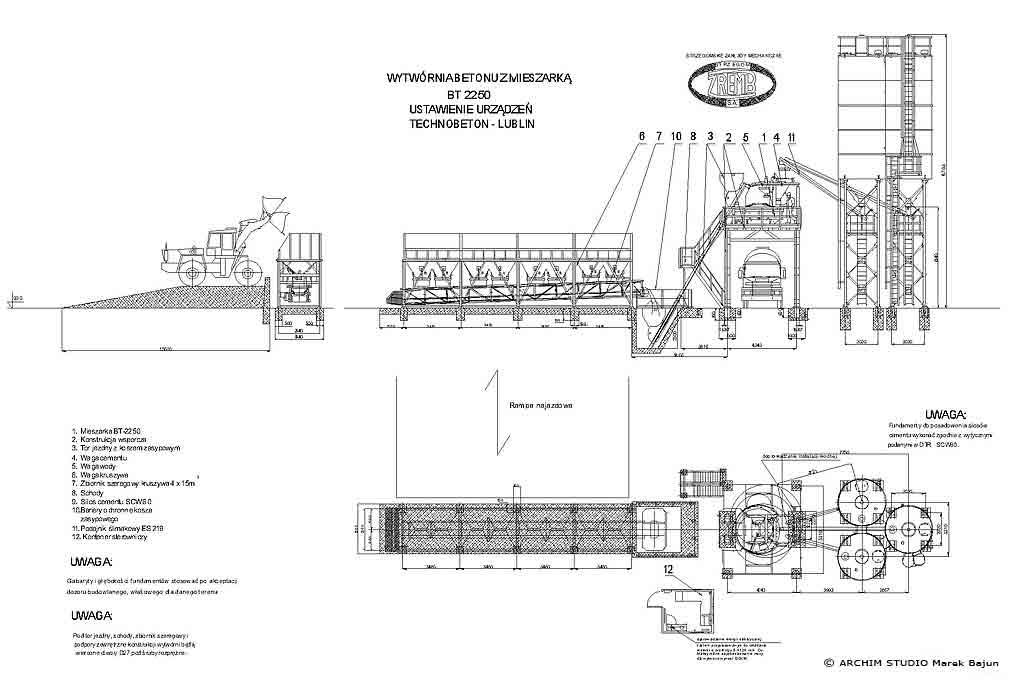 Projekt węzła betoniarskiego