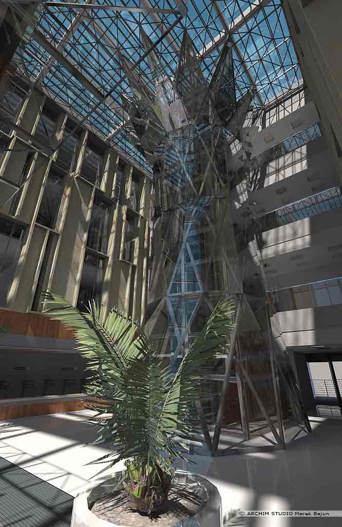 Aranżacja wnętrza centrum zaawansowanych technologii