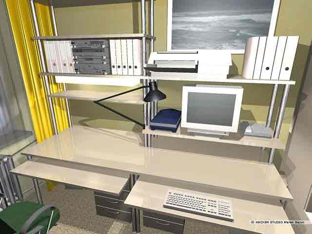Aranżacja wnętrza pokoju biurowego