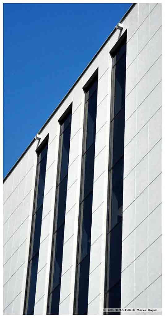 Biurowiec Gray Office- fragment elewacji szczytowej