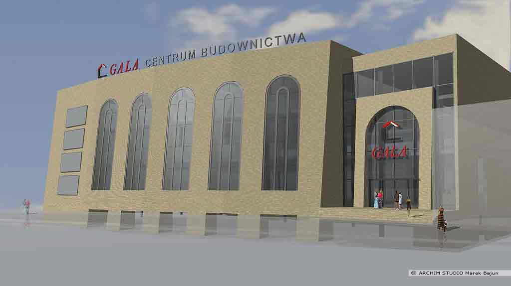 Budynek handlowy Gala Lublin- widok