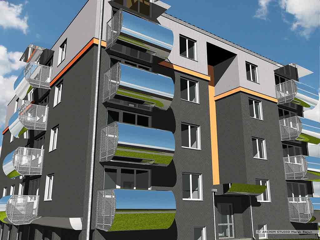 Budynek mieszkalny wielorodzinny- widok
