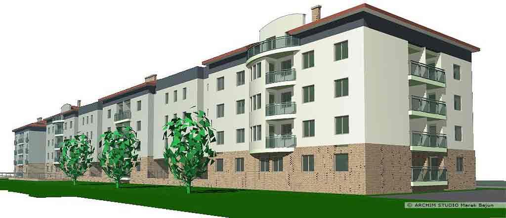 Budynki mieszkalne wielorodzinne- widok