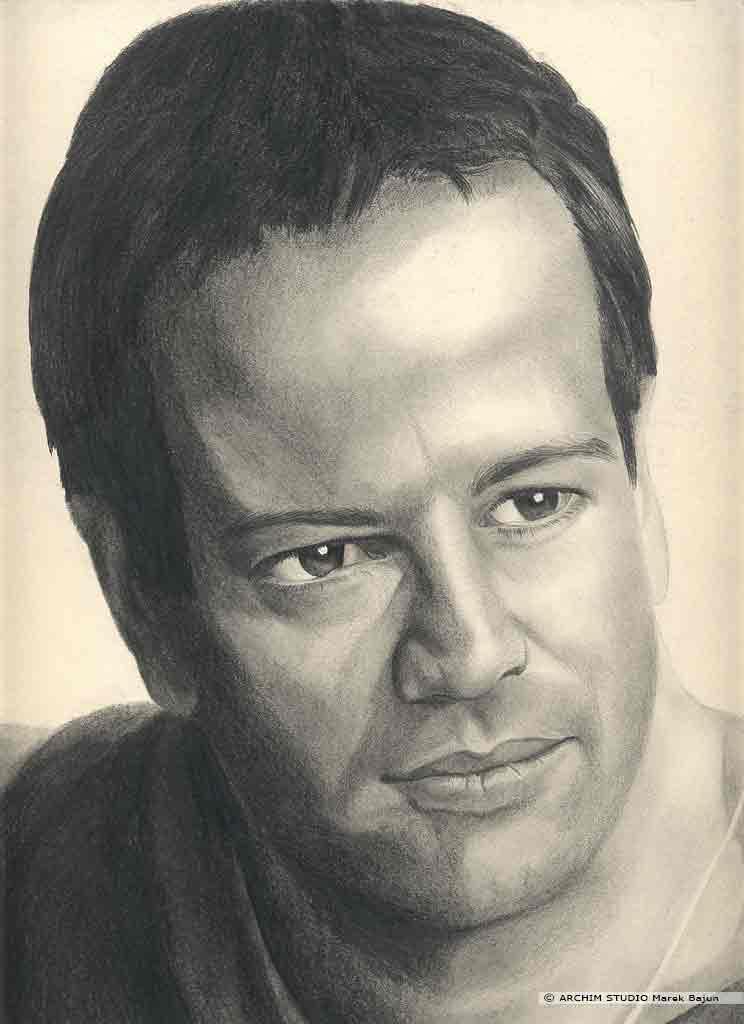 Christopher Lambert portret narysowany ołówkiem