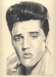 Elvis Presley portret narysowany ołówkiem