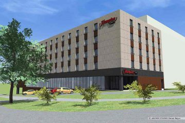 Hotel Hampton Hilton- widok