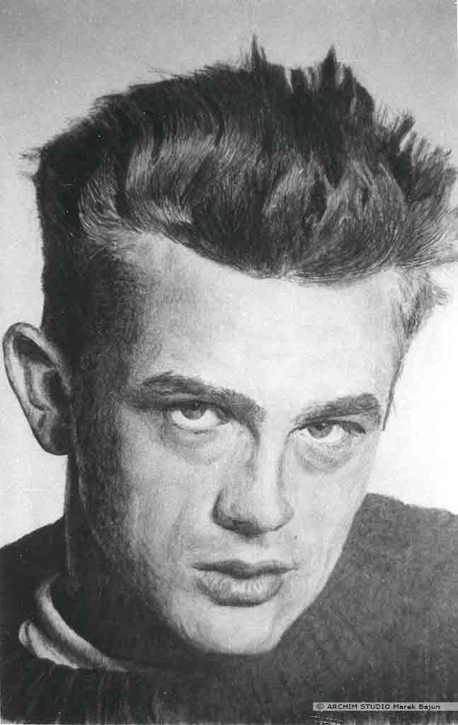 James Dean portret narysowany ołówkiem