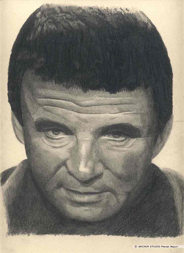 Kaszpirowski portret narysowany ołówkiem