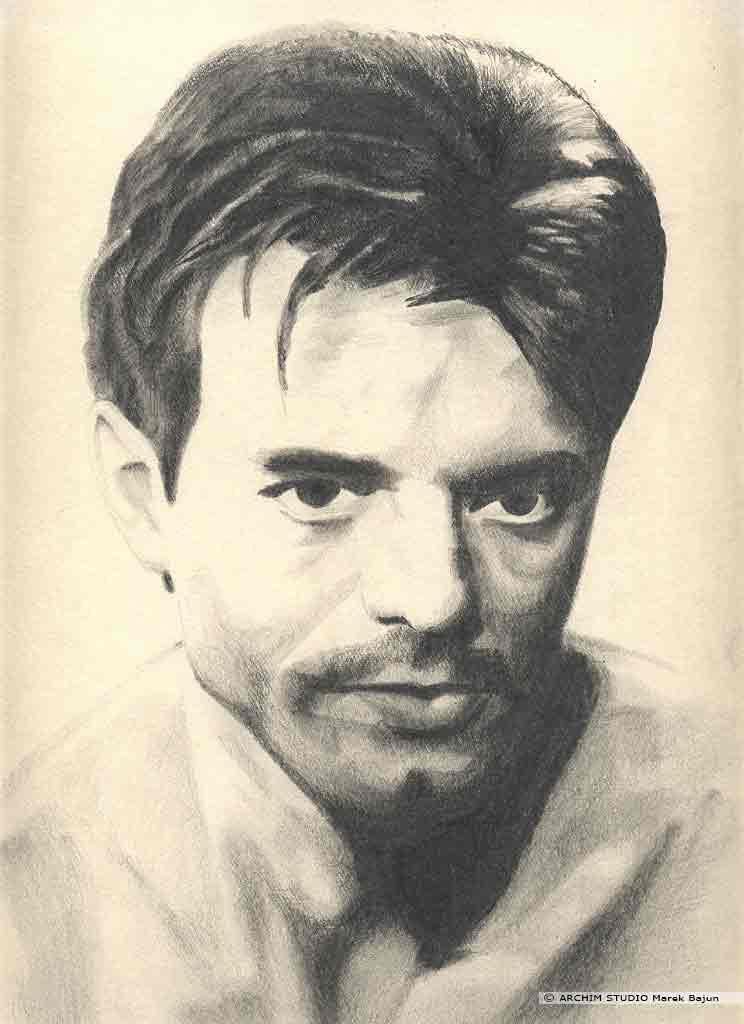 Michael Biehn portret narysowany ołówkiem