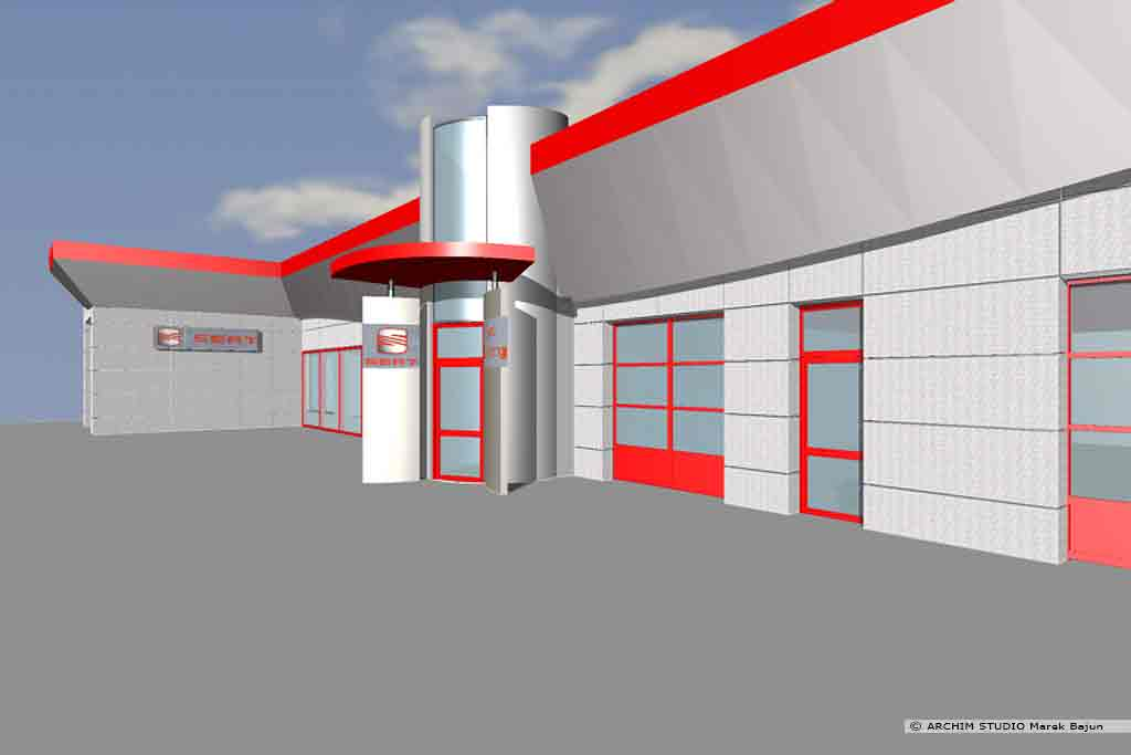 Modernizacja salonu samochodowego Seat- widok