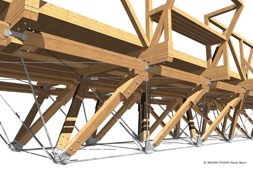 Most drewniany- widok fragmentu