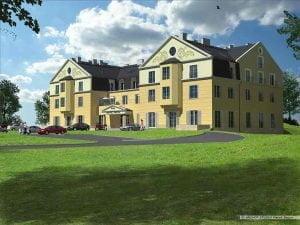 Motel widok z prawej strony