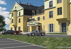 Motel widok na wejście