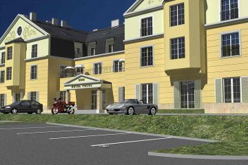 Motel widok wejścia od strony wjazdu