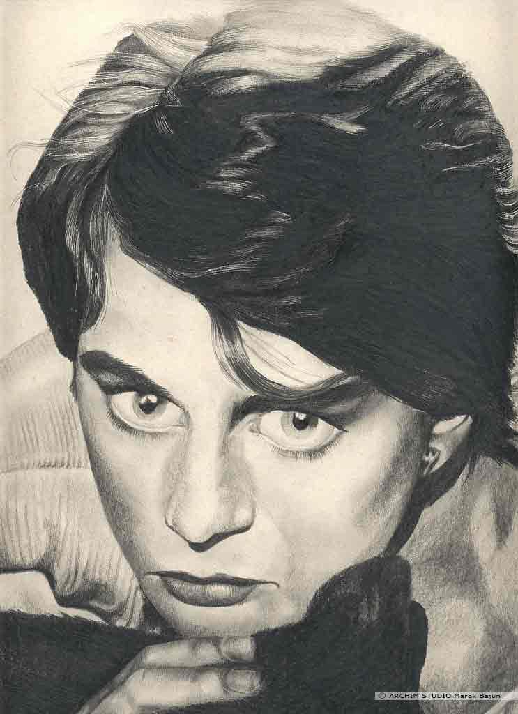 Nastassja Kinski portret narysowany ołówkiem