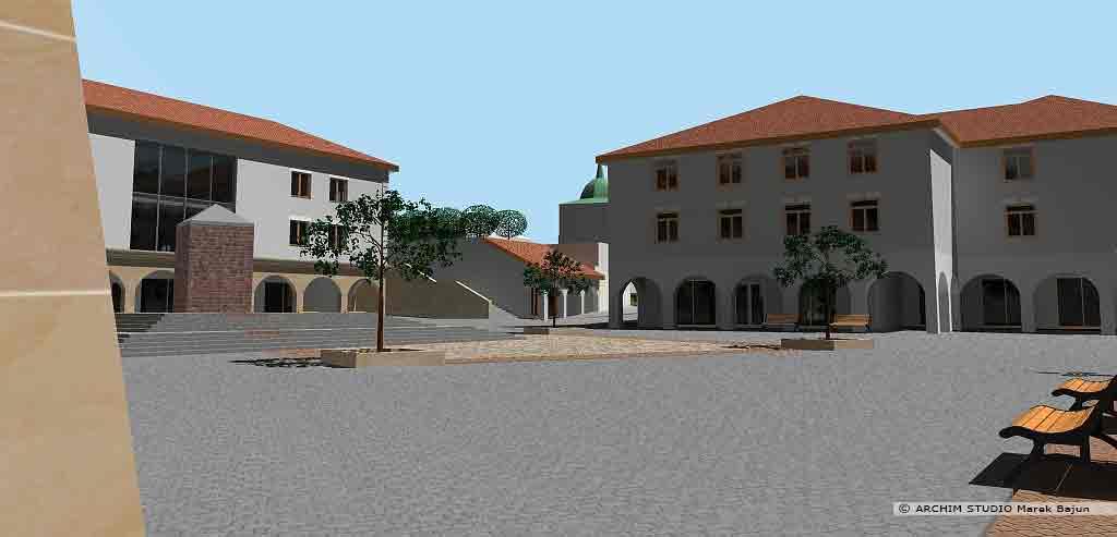 Projekt rewitalizacji obszaru Podzamcza w Lublinie- plac ze zdrojem
