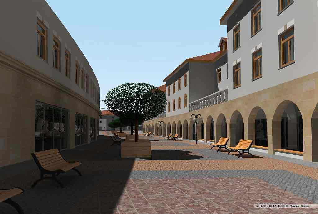 Projekt rewitalizacji obszaru Podzamcza w Lublinie- główny ciąg pieszy