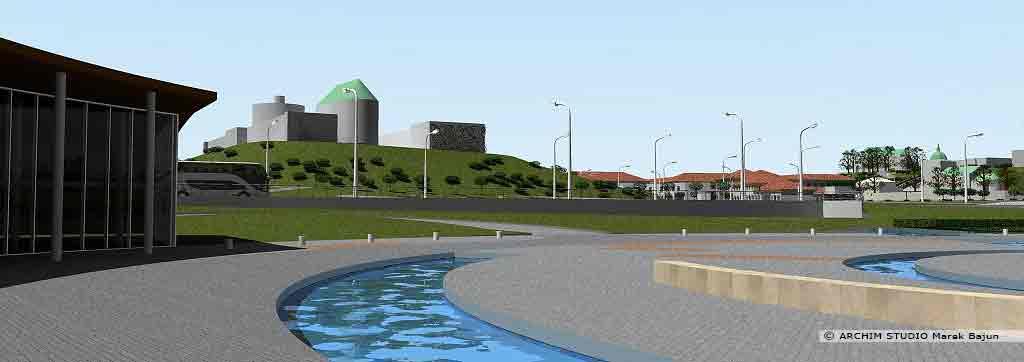 Projekt rewitalizacji obszaru Podzamcza w Lublinie- widok