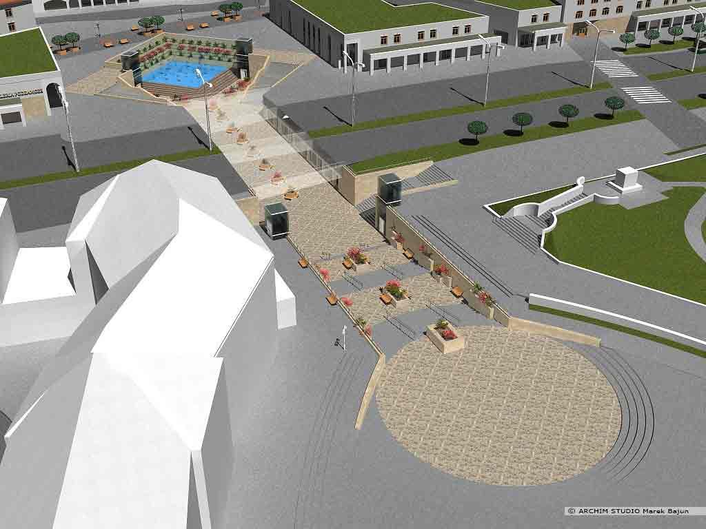Projekt rewitalizacji obszaru Podzamcza w Lublinie- widok przejścia podziemnego