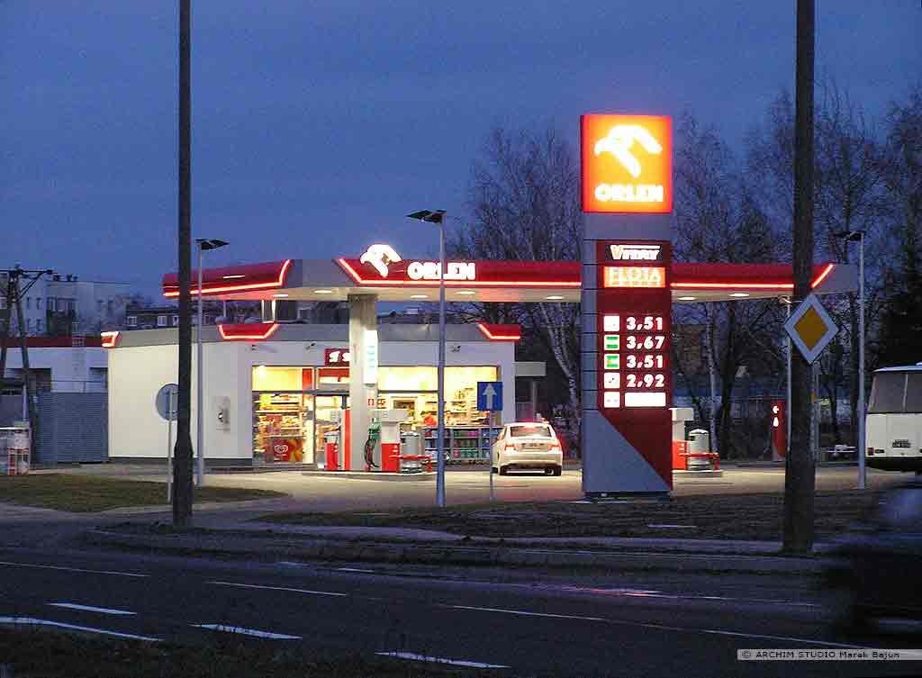 Projekt stacji benzynowej z myjnią