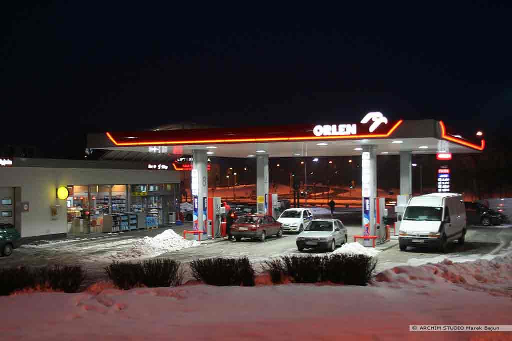 Projekt stacji paliw Orlen