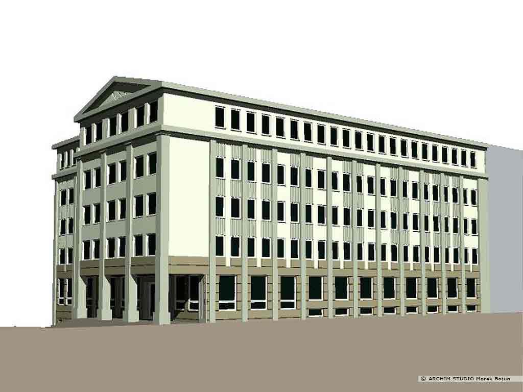Przebudowa budynku biurowego na sad- widok wersji klasycznej