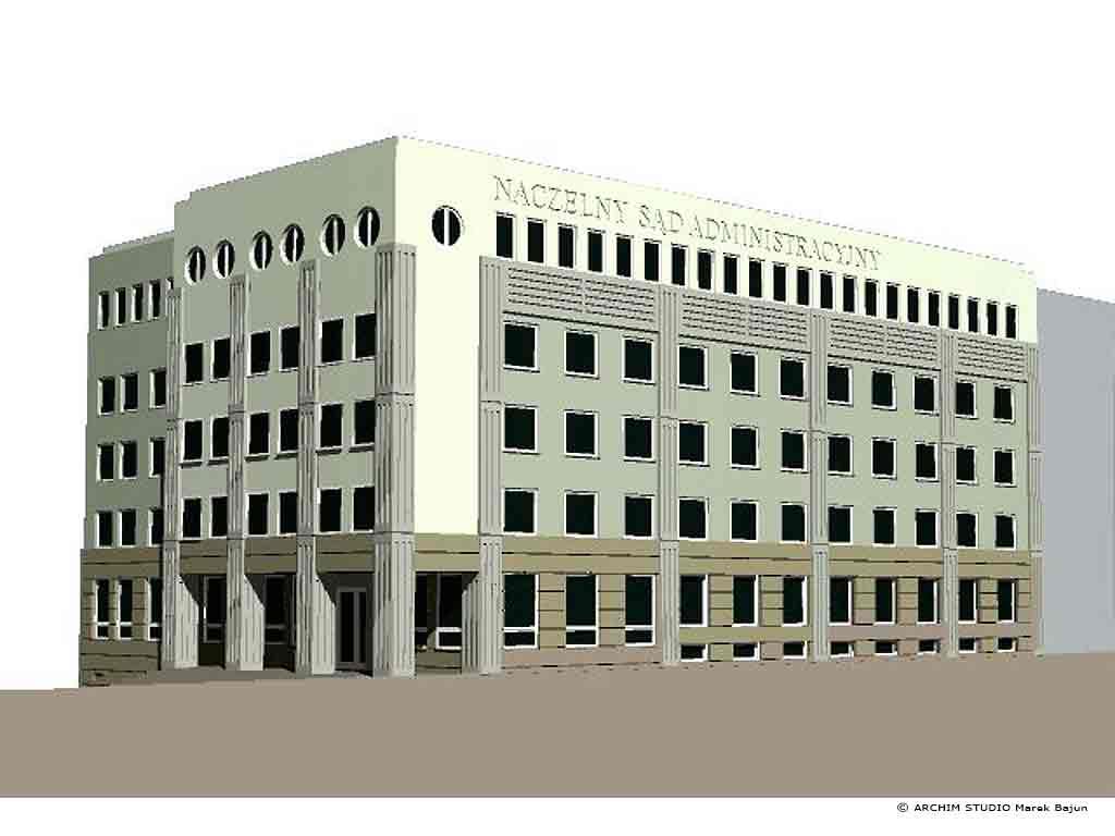 Przebudowa budynku biurowego na sad- widok