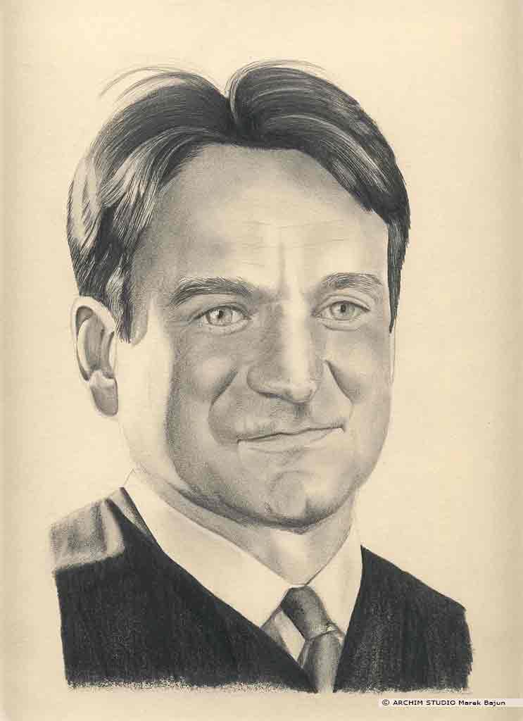 Robin Williams portret narysowany ołówkiem