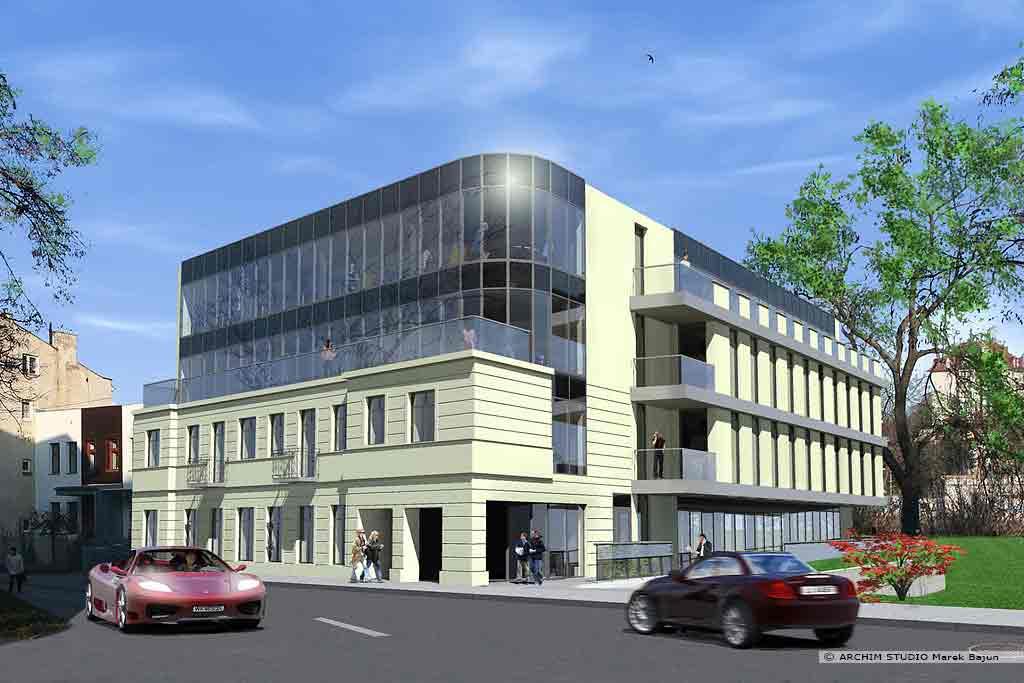 Rozbudowa i nadbudowa budynku- widok