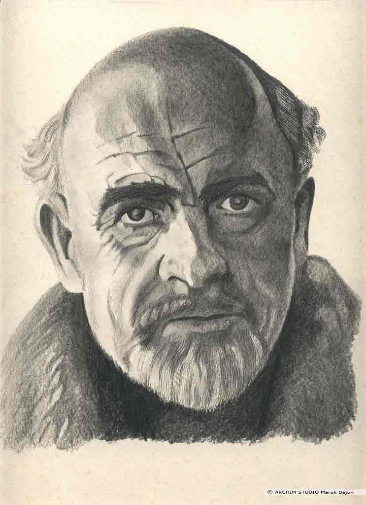 Sean Connery portret narysowany ołówkiem