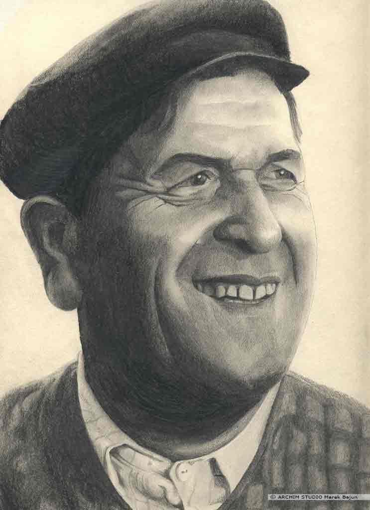 Wacław Kowalski portret narysowany ołówkiem