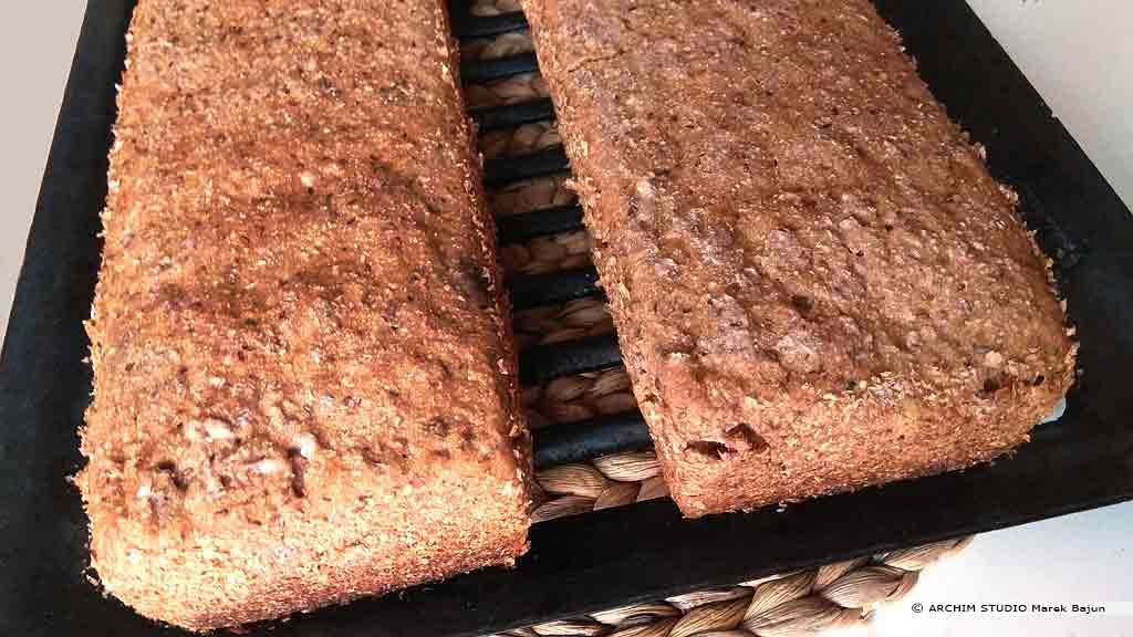 Własny chleb żytni ze słonecznikiem