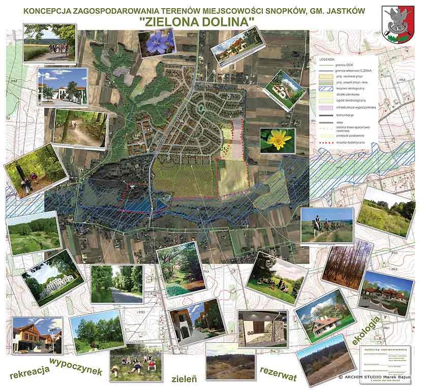 Zagospodarowanie terenu miejscowości Snopków