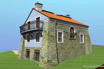 Projekt domu ze skarpami