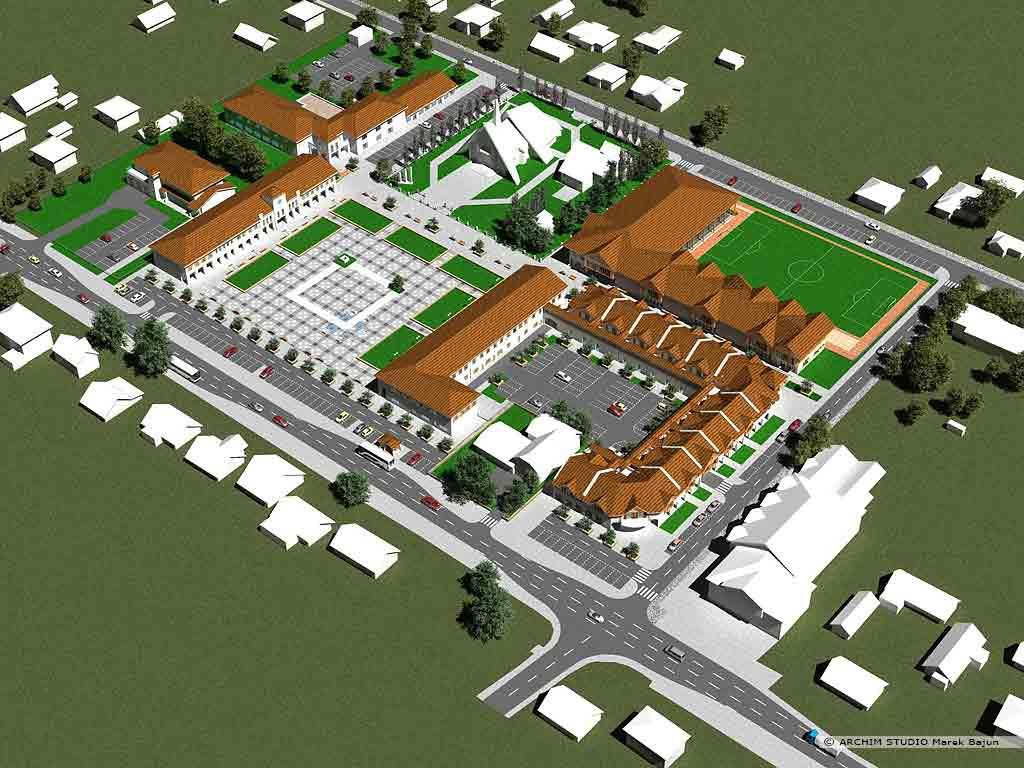 Koncepcja zagospodarowania centrum miejscowości Niedrzwica Duża