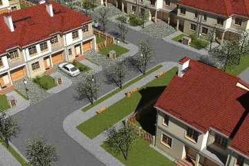 Projekt budynków szeregowych- Cicha Dolina