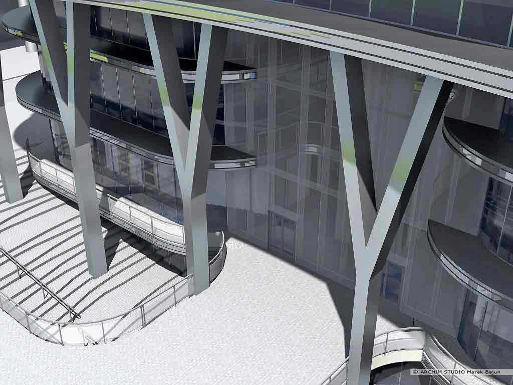Budynek biurowy wysoki
