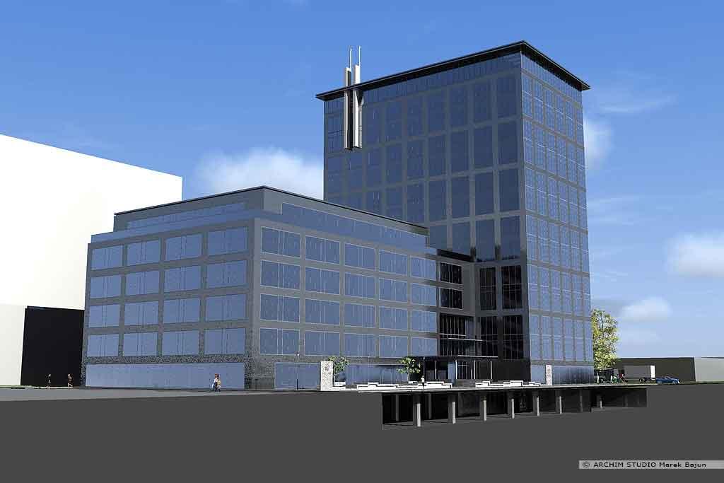 Koncepcja budynku biurowo handlowego