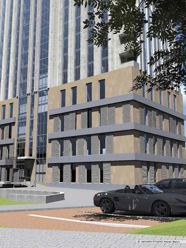 Projekt budynku mieszkalnego z usługami