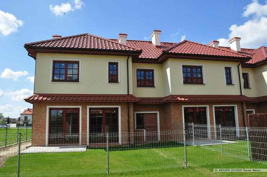 Projekt domów szeregowych- osiedle Cicha Dolina