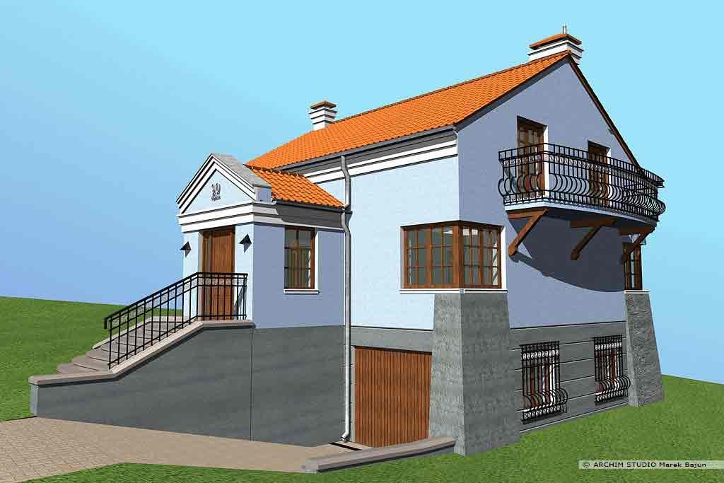 Projekt domu na skarpie