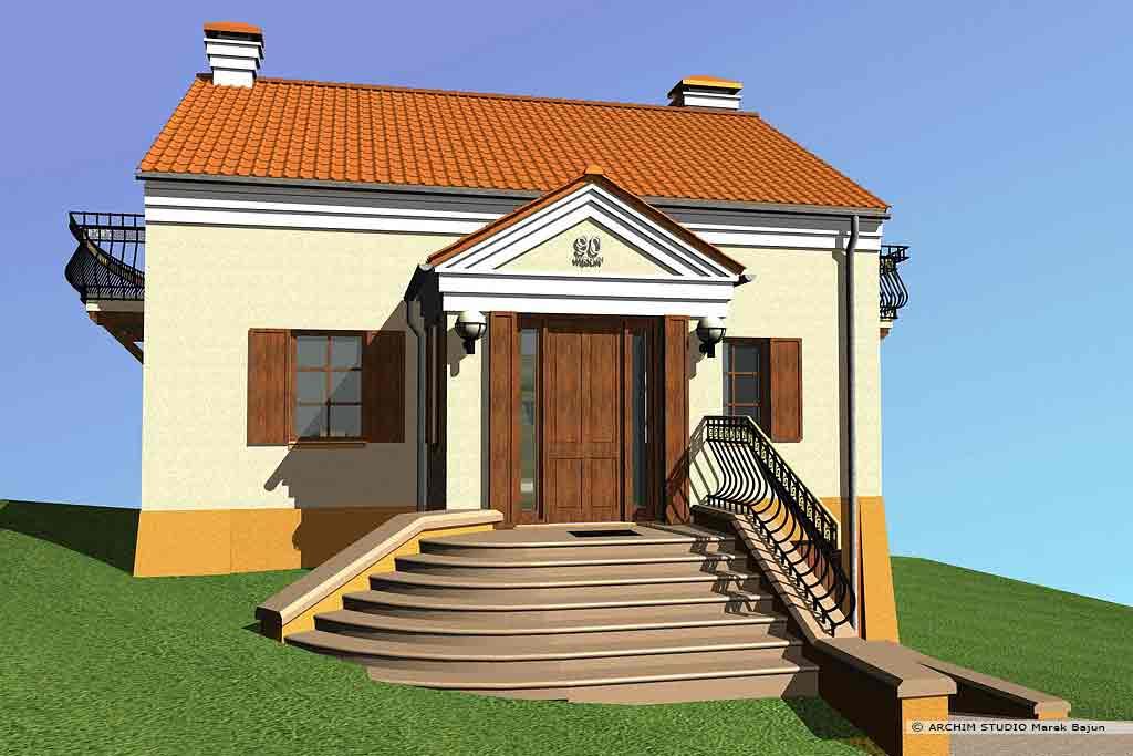 Projekt domu z balkonem