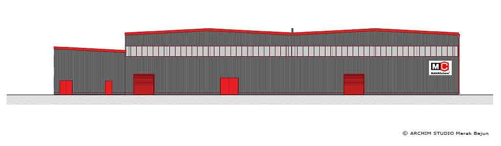 Projekt remontu elewacji hali