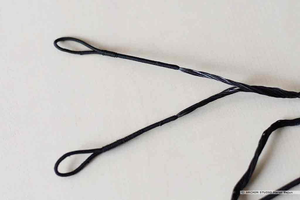 Kabel dakronowy czarny do łuku bloczkowego