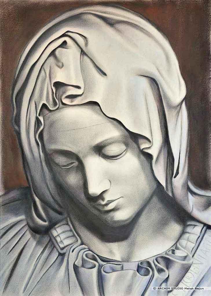 Portret Marii z Piety Michała Anioła