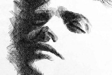 Portret piórkiem
